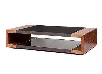 Flex Storage Coffee Table with Black Glass Insert