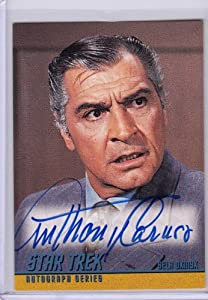Star Trek TOS Anthony Caruso A52 Autograph Card