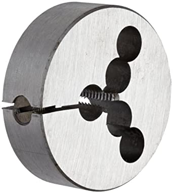 "Union Butterfield 2010(UNC) Carbon Steel Round Threading Die, Uncoated (Bright) Finish, 2"" OD, 1/4""-20 Thread Size"