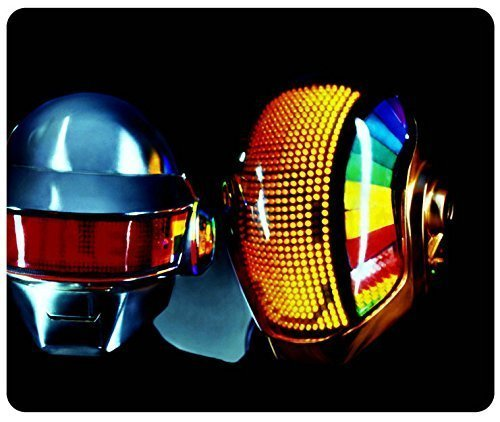 Daft Punk Blue Yellow Helmets Dj Musican Mouse Pad, Customized Rectangle Mousepad by iCustomonline