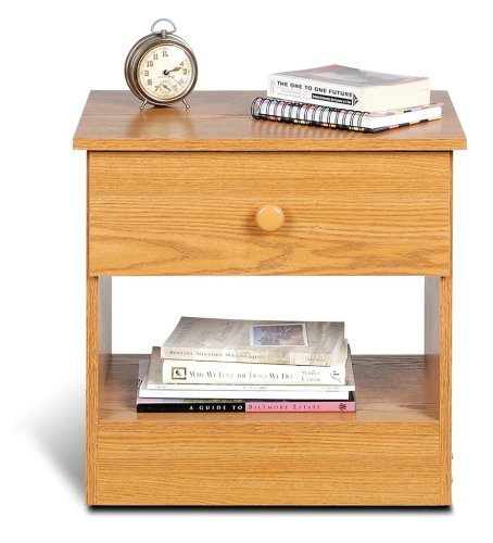 Casual Night Stand in Oak Finish PREPAC OBD-2020-1