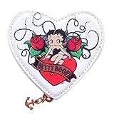 Betty Boop Heart Coin White Purse