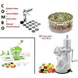 Floraware 4-Kitchen Tools Combo (Manual Food Processor, Kitchen Press, Sprout Maker And Hand Juicer)