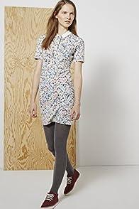 L!ve Half Sleeve Pixelated Floral Print Polo Dress