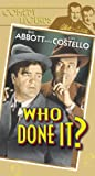 Who Done It [VHS]