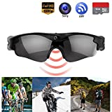 Camera Glasses - Gogloo Hands Free Action Camera Full HD 720P/1080P Tiltable 8MP Sony Camera with Polarized Lens Blue Light Blocking Glasses Great Outdoor Sports Camera Wearable Camera Video Camera