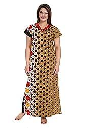 Vimal Fashion Cotton Multi Colour Printed Night Wear / Nightgown / Women Sleepwear / Womans Pyjamas (VF062)