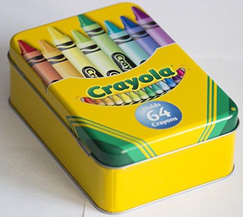"""Crayola Tin Crayon Box, Holds 64 Crayons, 6"""" X 4"""" X 2"""""""