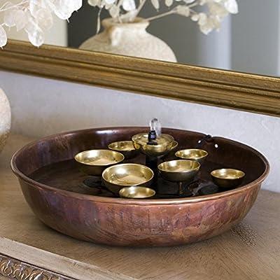 Woodstock Water Bell Tabletop Indoor/Outdoor Water Fountain