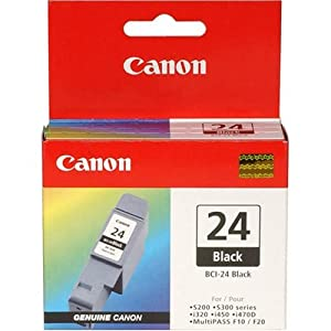 Canon 6881A003 BCI-24 Black Inkjet Tank