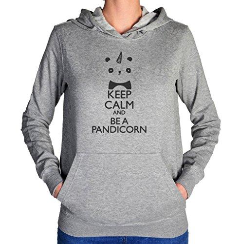Keep Calm And Be A Pandicorn Women's Hoodie Pullover Medium