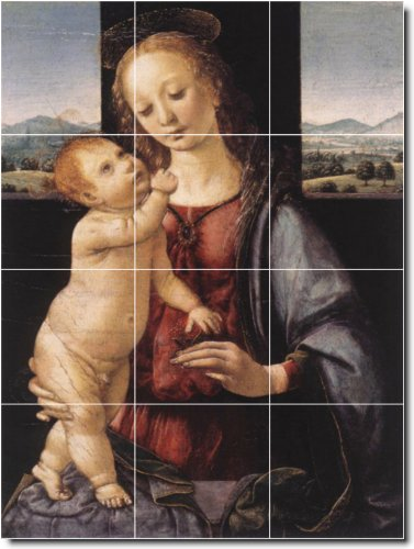 Leonardo Da Vinci Religious Bathroom Tile Mural 1. 18X24 Inches Using (12) 6X6 Ceramic Tiles. front-391551
