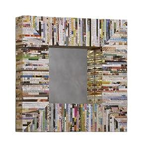 Linon Recycled Magazine Mirror, Square