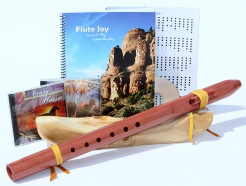 D Cedar Native American Style Wood Flute + Book + 3 CD's (Retail Value $219.00)