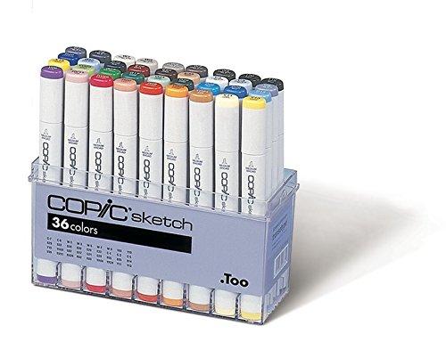 Copic Markers 36-Piece Sketch Basic Set (Color: 36 Color Set (Sb36))