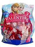 Disney Frozen Classroom Valentine Day Hearts With Candy 2 Packs of 18! (36 Valentines Total)