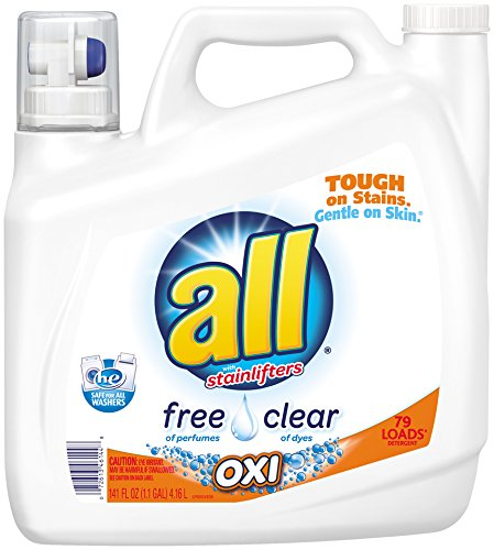 all Liquid Laundry Detergent, Free Clear Oxi, 141 Ounces, 79 Loads (Oxi Free Laundry compare prices)