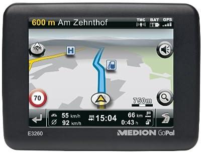 Medion GoPal E3260 Tragbares Navigationssystem (8,9 cm (3,5 Zoll)Touchscreen, TMC, Kartenmaterial Westeuropa) von Medion bei Reifen Onlineshop