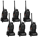 Greaval Walkie Talkies 6 Pack Long Range 2 Way Radio with Earpiece 16-Channel UHF 400-470MHz (Pack of 6)