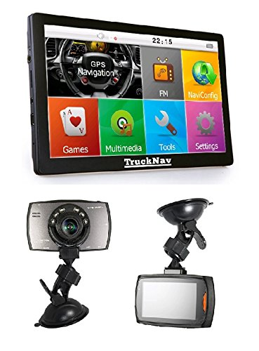 NEW-Camion-SAT-NAV-178-cm-Dash-Cam-Carte-SD-8-Go