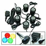 Jebao 12-LED Submersible Light for Water Gardens and Ponds, Set of 6