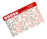 OOOZU Turkish Language Card - phrasebook alternative Keep the essential words in your wallet, purse or pocket Light to carry, quick to use, made from biodegradable plastic Easy alternative to a Turkish phrase book, Turkish dictionary, mobile phone