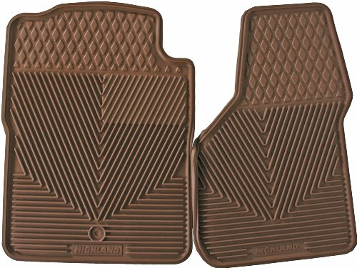 Highland 4404400 All-Weather Tan Front Seat Floor Mat front-628285