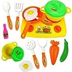 HuntGold 13pcs/set Kitchen Toy Preten...