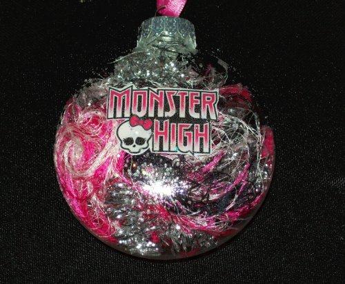 Christmas Ornaments: Monster High Christmas Glass Ornament Pink ...