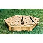 Holz Sandkasten mit Abdeckung Ø 180 cm