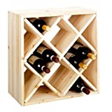 Wine rack, bottle rack system CUBE 52 nature module 2