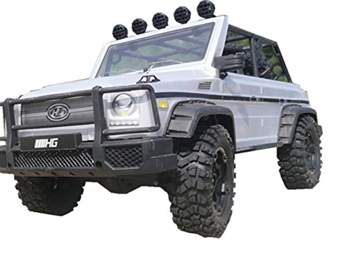 Taipove Remote Control Trucks 4WD Off Road Driving Car 1/10 scale 2.4G Electric Rc Rock Crawlers RC Vehicles (P402-Silver)