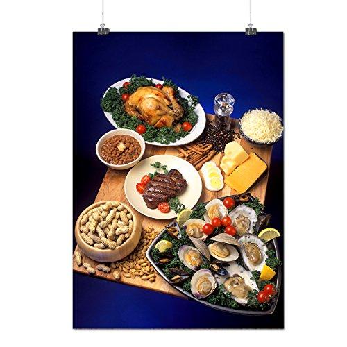 Aliments Art Composition Manger En bonne Matte/Glacé Affiche A1 (84cm x 60cm) | Wellcoda