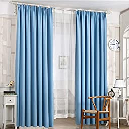 Oshide Solid Color Window Curtains/drape/panels/treatment,WineRed/Green/Blue/Yellow/Pink/Coffee (1 Panel)