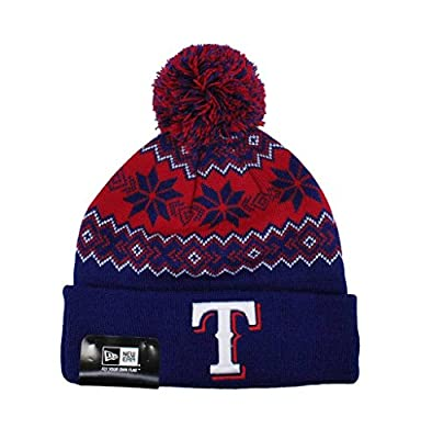 New Era Unisex Pom Knit Beanie Snowflakes One Size Hat