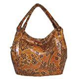 Italian Designer Tooled Leather Hobo Handbag