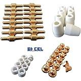 GENSSI 46 Consumables For Plasma Cutter 40D CUT40 50D CUT50 Electrodes Tips Nozzle