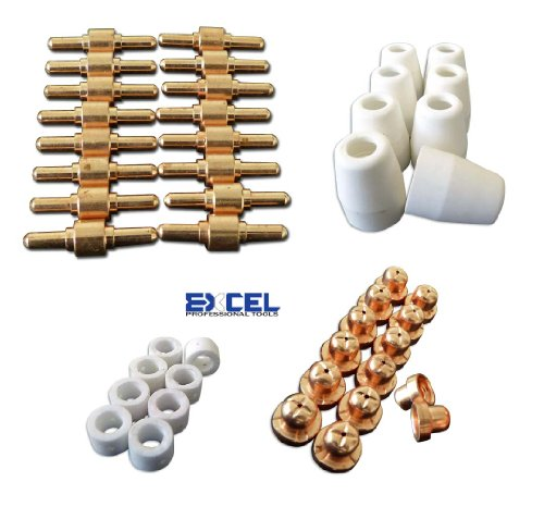 Review Of EXCEL 46 Consumables For Plasma Cutter 40D CUT40 50D CUT50 Electrodes Tips Nozzle