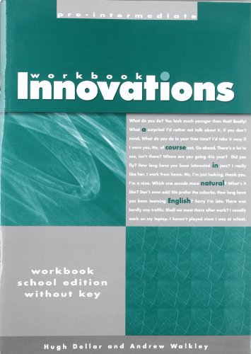 Innovations: Pre Intermediate Workbook without Answer Key