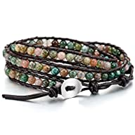 Colorful Alloy Genuine Leather Bracel…