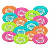 """Reusable Plastic Paper Plate Holder for 9"""" Plates, Bright Summer Fun Colors for Picnic, BBQ, Parties, & Camping, Set of 15"""