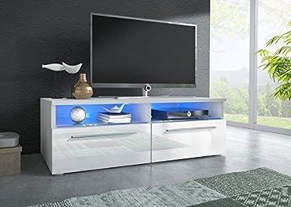 Mueble TV modelo Laura en color blanco con led (1m)