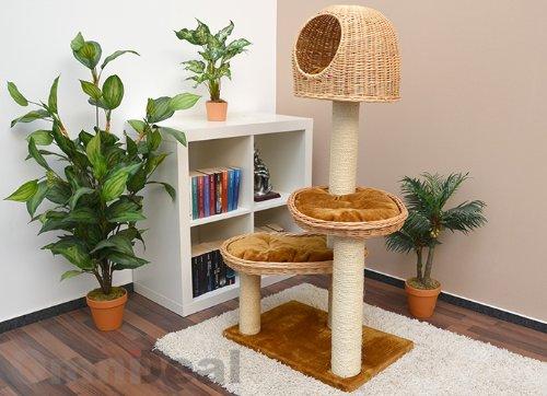 Wicker Cat Tower Tree Scratching Post
