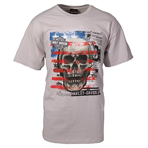Harley-Davidson Military Men's T-Shirt - Patriot Skull XL | Overseas Tour