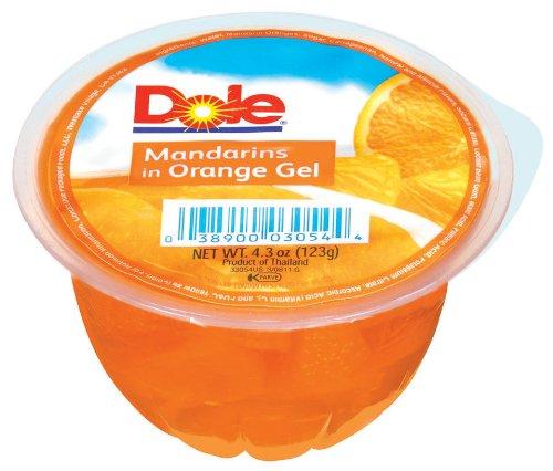Dole Mandarin in Orange Gel 4 3 Ounce Packages Pack of 24