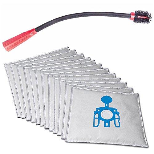 Flexible KFZ-, Boot-, Couch-, Möbel-, Ritzen-, Heizkörper- Staubsaugerdüse für Miele MI 150°M 40°M 49°0540°3101°Miele inkl. 10 Microvlies Staubsaugerbeutel und 1 Rolle 16l Abfallbeutel