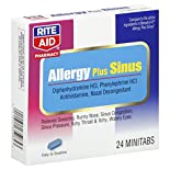 Rite Aid Pharmacy Allergy Plus Sinus, 24 minitabs