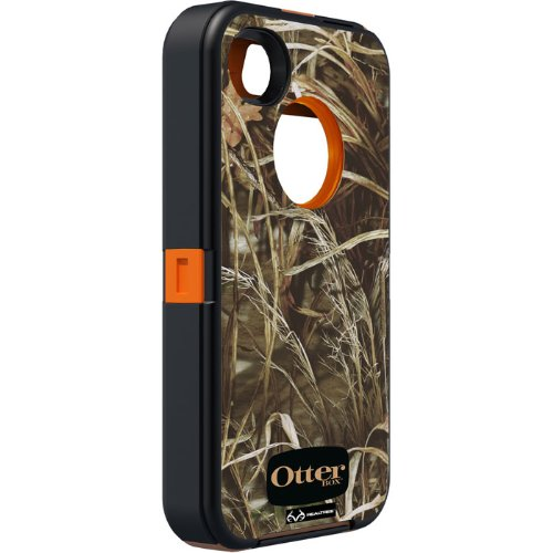 OtterBox Defender Series Case and Holster for iPhone 4/4S  - Retail Packaging - Realtree Camo - Max 4HD Orange (Mobile Case Iphone 4s compare prices)