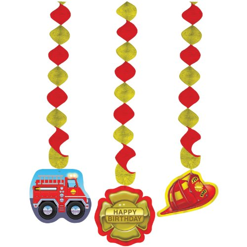 Firefighter 24in Dangling Cutouts 3ct by Creative Converting