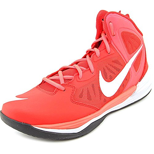 Nike Men's Prime Hype DF Unvrsty Rd/White/Lsr Crmsn/Wlf Basketball Shoe 10 Men US (Shoes Basketball Men compare prices)